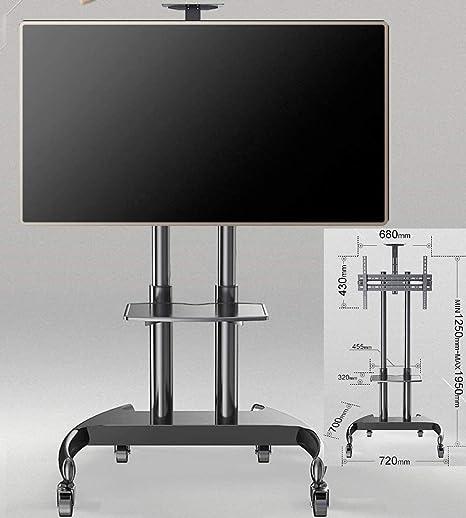 KSW_KKW El 32-70 Pulgadas LCD LED TV de Pantalla Plana, con estantes de Altura Ajustable