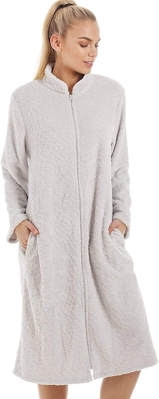 Longue Hiver Peignoir CaiDieNu Peignoir Femme Robe de Chambre Microfibre Flanelle