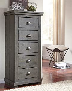 Progressive Furniture Willow Chest of Drawers, Gray