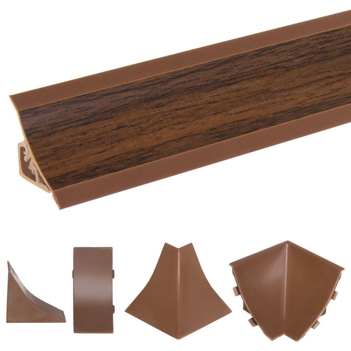 HOLZBRINK Copete de Encimera Nuez Oscuro Embellecedor de Remate PVC Listón de Encimeras 23x23 mm 150 cm: Amazon.es: Bricolaje y herramientas