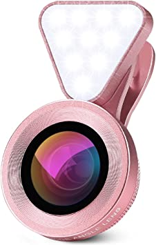 Lentes para Moviles, 0.4X-0.6X Lente Gran Angular + Luz de Relleno ...
