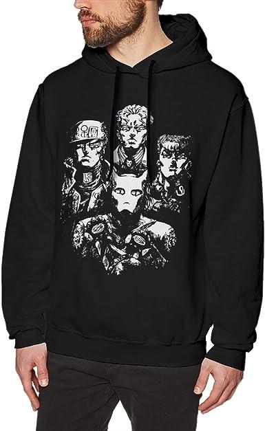 Amazon Com Anime Jojo S Bizarre Adventure Dio Brando The World Wry Pullover Men S Long Sleeve Sweatshirts Hoodies Clothing
