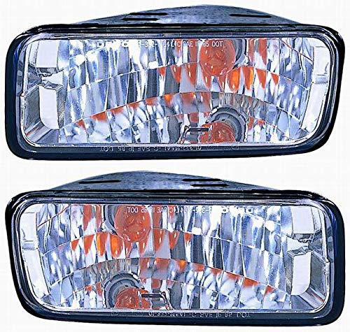 Chevy Camaro Parking Light - For 1985 1986 1987 1988 1989 1990 1991 1992 Chevrolet Chevy Camaro Front Parking Signal Light lamp Assembly Driver Left and Passenger Right Side Pair Replacement GM2522116