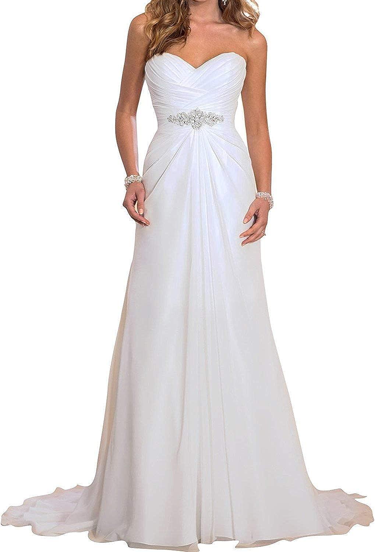 Alexzendra Wedding Dress For Womens Beach Bride Dresses Strapless Chiffon Bridal Gown Simple Wedding Dresses Amazon Ca Clothing Accessories,Informal Casual Fall Wedding Guest Dresses