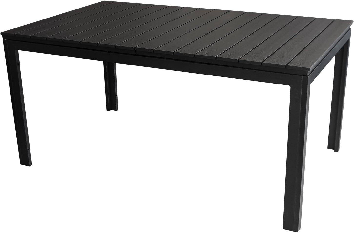 Mesa extensible Jardín Mesa – 160/210 x 95 cm, aluminio, polywood, Negro/Terraza mesa Muebles de Jardín muebles de terraza: Amazon.es: Jardín