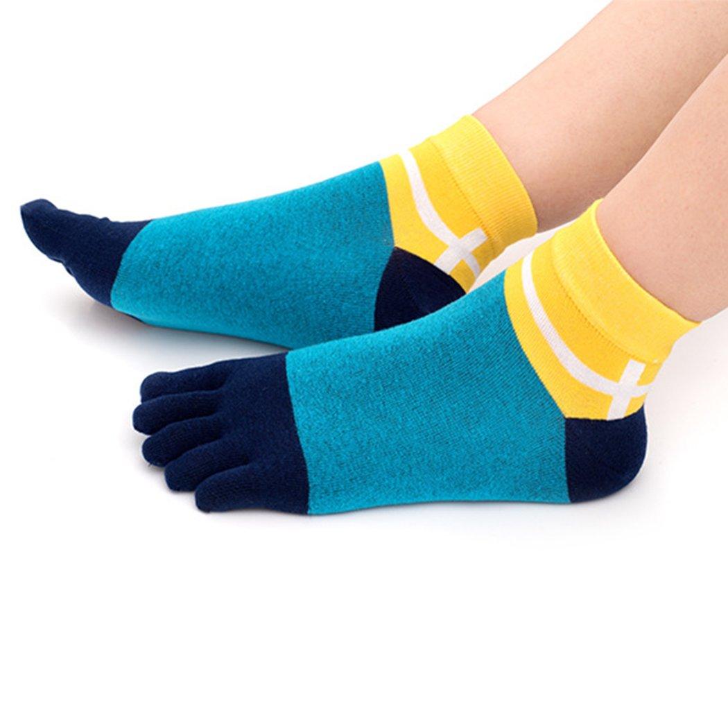 5 Pack Maygold Toe Socks Soft /& Breathable Running Crew Socks for Mens Five Finger Socks