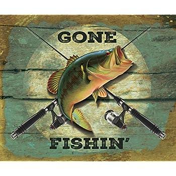 Gone Fishin Fishing Bass Fish 50x60 Polar Fleece Blanket Throw free shipping