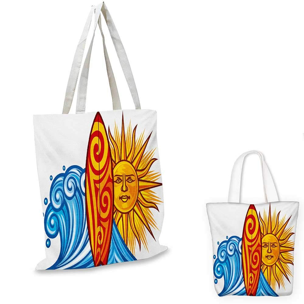 12x15-10 Ride The Wave canvas messenger bag Silhouette of a Surfer under Giant Ocean Waves Athlete Hobby Lifestyle Image canvas beach bag Night Blue