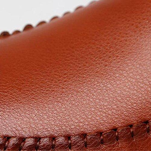 Tamaño los En Dual EU43 Mocasines del Dedo Cerrado y de T1 pie Zapatos Mocasines Hombres chanclas Uso Cuero Plano Color Conducción Resbalón Sandalias T2 UK9 Casual CJC gZ8xSq