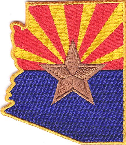 ARIZONA FLAG/Iron On Embroidered Applique Patch /Flag of ()