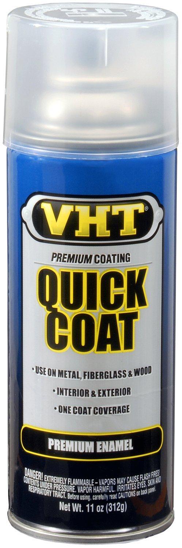 VHT ESP515007-6 PK Clear Quick Coat - 11 oz. Aerosol, (Case of 6)