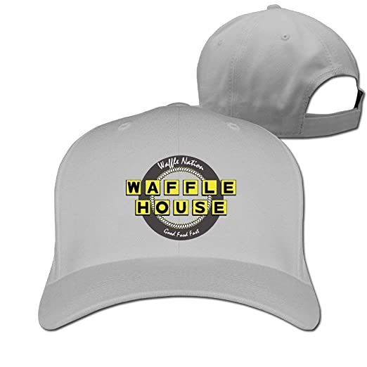a74362fc5e0 Amazon.com  Facecho Unisex Adjustable Waffle House Hat Baseball Dad Hats  Snapback Bill Trucker Cap for Women Men Ash  Clothing