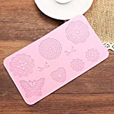 Fondant Cake Silicone Lace Mold Decoration Butterfly Bows Flowers