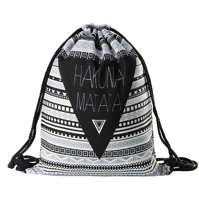 Amazon.com: Hakuna Matata - Mochila geométrica con tirador ...
