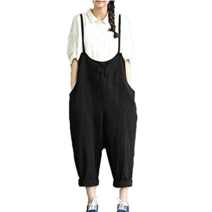 Large Black Kingko Womens Retro Loose Fit Casual Plus Size