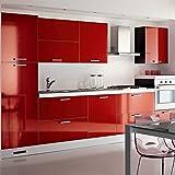 Hode Vinilos Adhesivo para Muebles Puertas Ventanas Papel Adhesivo para Muebles Pegatina de Vinilo Adhesivo Muebles Rojo 40X300cm: Amazon.es: Hogar
