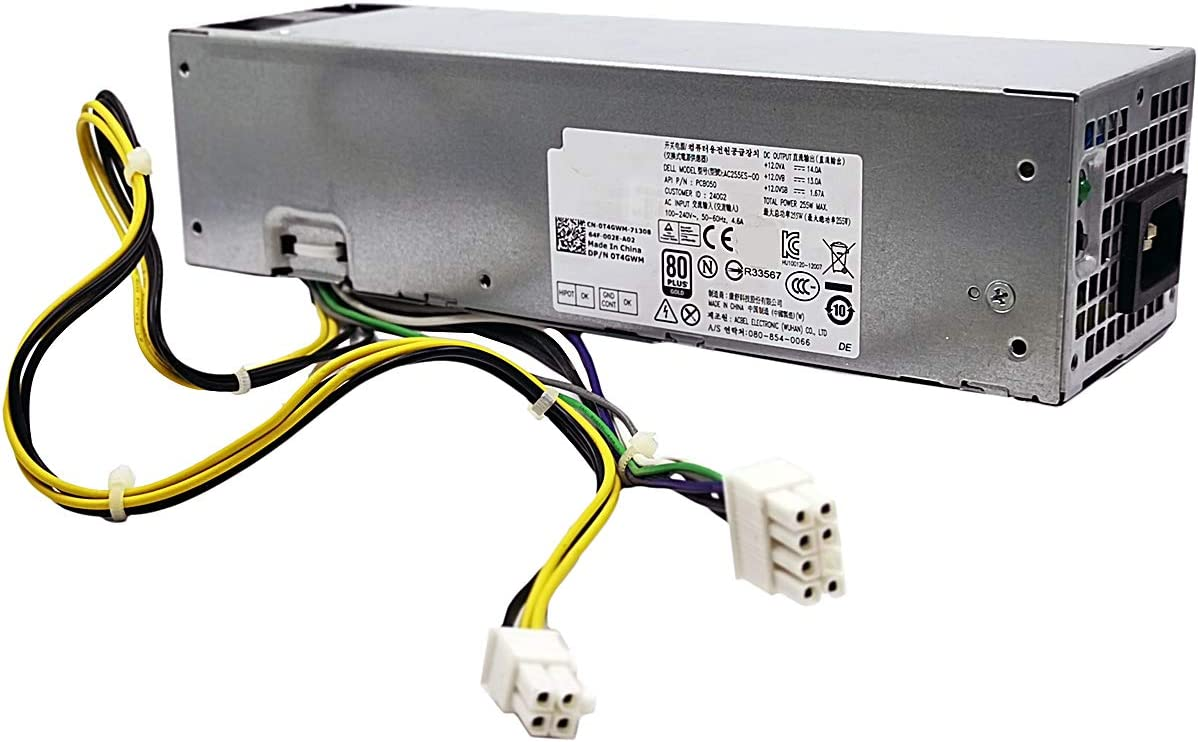 AC255ES-00 PCB050 255W Power Supply Compatible with Dell Optiplex 3020 7020 9020 Precision T1700 Small Form Factor SFF Systems