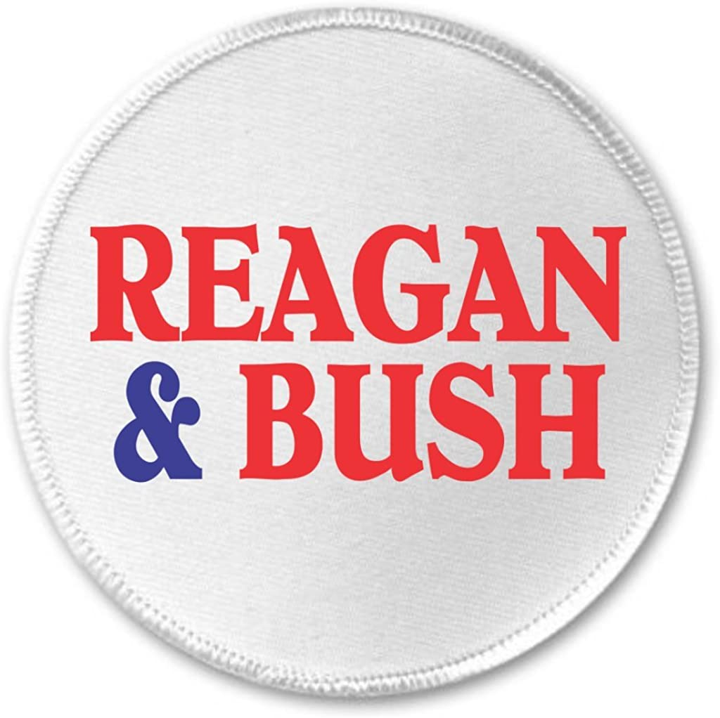 A/&T Designs Reagan /& Bush 3 Sew On Patch President Vice Campaign 84 Election