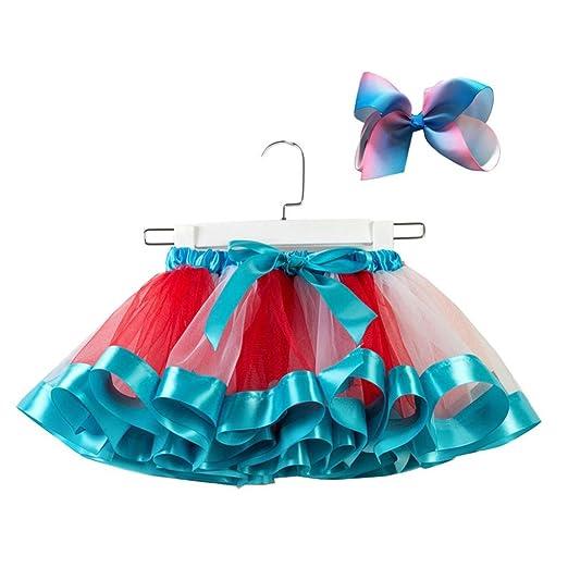 322304459 Amazon.com  KONFA Teen Baby Girls Varicolored Dance Ballet Tutu ...