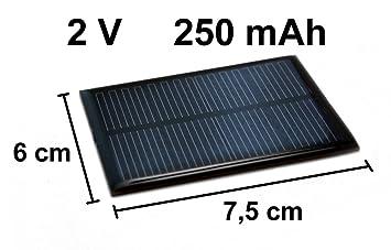 Edi Tronic Solarzelle 2v 250mah Neu Solar Zelle Amazon De Elektronik