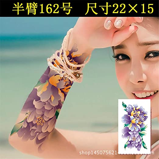 tzxdbh Pegatinas de Tatuaje Flores duraderas Impermeables Mariposa ...