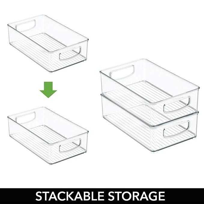 Amazon.com: mDesign – Contenedores de plástico para despensa ...