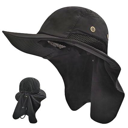fc83c25750aef Amazon.com   LETHMIK Fishing Neck Flap Sun Hat