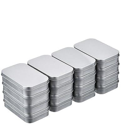 16pcs(88*60*18mm) Latas Metal de Bisagra Caja Contenedor Almacenamiento Rectangular
