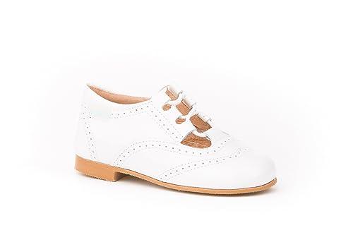 ANGELITOS Boys' Lace-Up Flats white Size: 2 Child UK