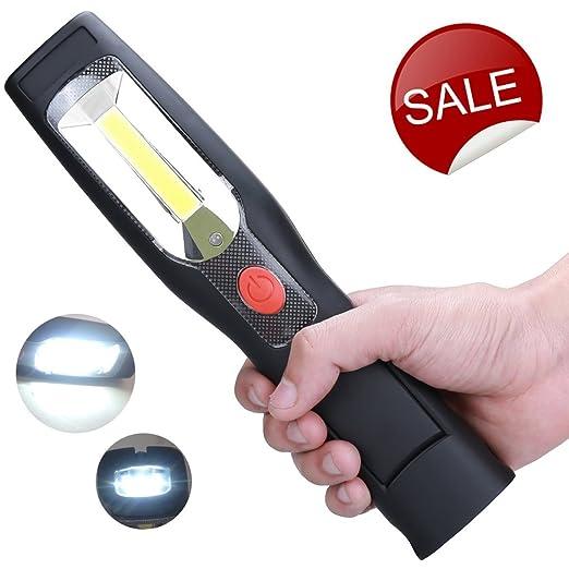 16 opinioni per LED COB senza fili da ricaricare portatili lampade a mano da appendere a un