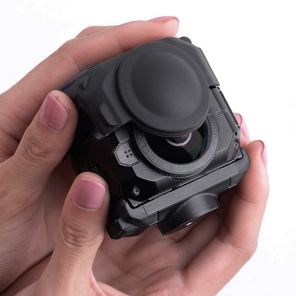 Protective Lens Cover for Garmin Virb 360 Camera, Silicone Case for Garmin Virb 360 Rugged Waterproof 360-degree Camera by HOLACA