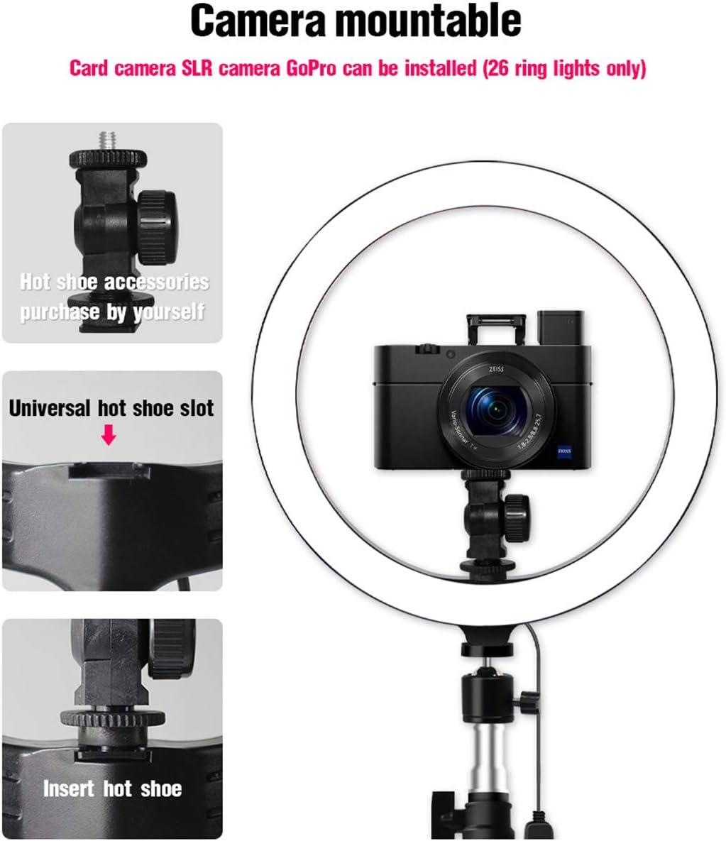 Haokaini Selfie Ring Licht mit Stativ Handyhalter f/ür Live-Stream Make-Up Mini-LED-Kamera Ringlicht f/ür Youtube Video Fotografie Live-/Übertragung