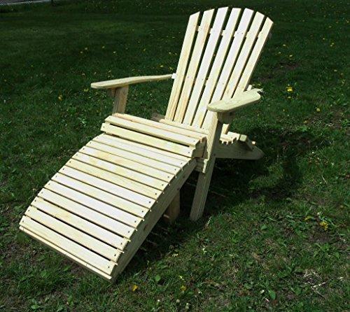 Pressure Treated Pine Designs Large Folding Adirondack Chair and (Large Adirondack Ottoman)