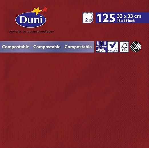 Duni 180381 2 Lagig Tissue Servietten 33 Cm X 33 Cm Bordeaux 2000 Stück Gewerbe Industrie Wissenschaft