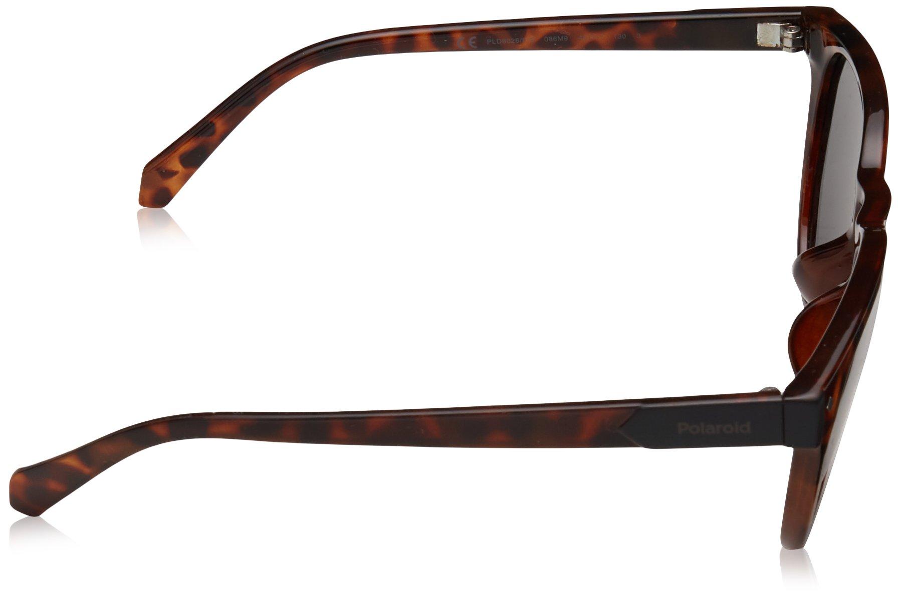 Polaroid Sunglasses Girls' Pld8026fs Polarized Oval Sunglasses, DKHAVANA, 49 mm by Polaroid Sunglasses (Image #3)