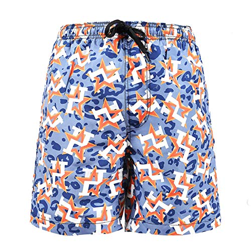 (Camouflage Orange Star Baseball Male Beach Pants Swimming Trunks Hot Pant Beach Pants for Men)