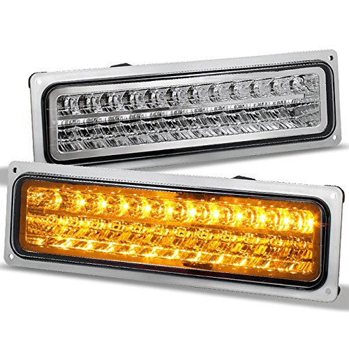 (For 90's Chevy GMC C/K Blazer Suburban Tahoe Silverado Yukon Sierra LED Bumper Light Lamp)