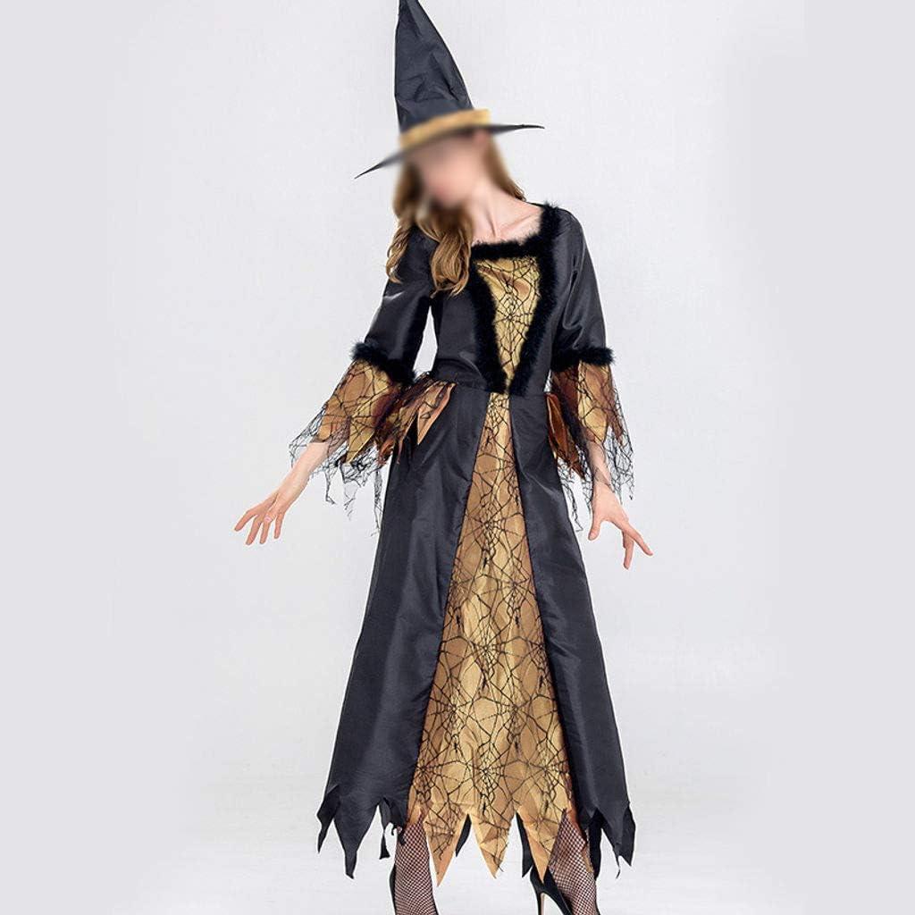 ZHFEL Halloween Juego De Roles Disfraz, Bruja Etapa Rendimiento ...