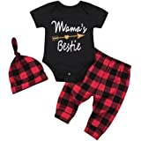 Kavitoz Newborn Baby Boy Girl Hooded Coat Tops, Striped Pants Legging Outfits Clothes Set