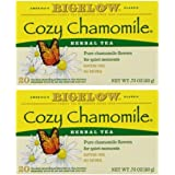 Bigelow Cozy Chamomile Tea Bags, 20 ct (Pack of 2)