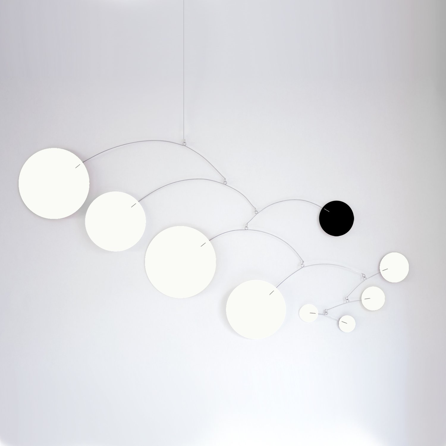 MOD Art White & Black Mobile - Choose From 3 Sizes - Calder Inspired Retro Modern Hanging Art