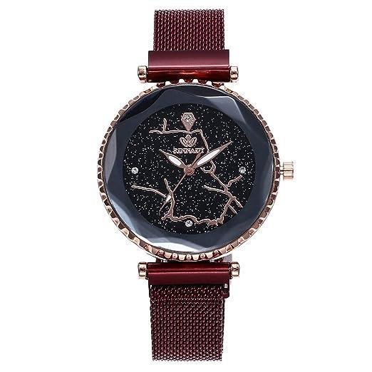 Reloj Digital Mujer, BOBOLover Pulseras Mujer Reloj con Movimiento Cuarzo Pulsera de Cuarzo Analógico con Correa de Malla - Clásico Regalo para Mujer: ...