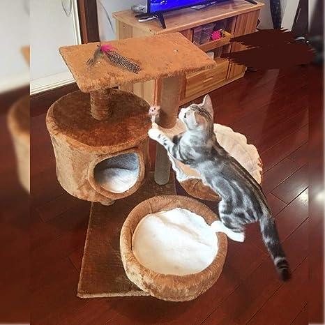 Axiba Árbol para Gatos,Gato árbol Gato Nido Gato Gato Escalada Rack Tres Capas Resistentes