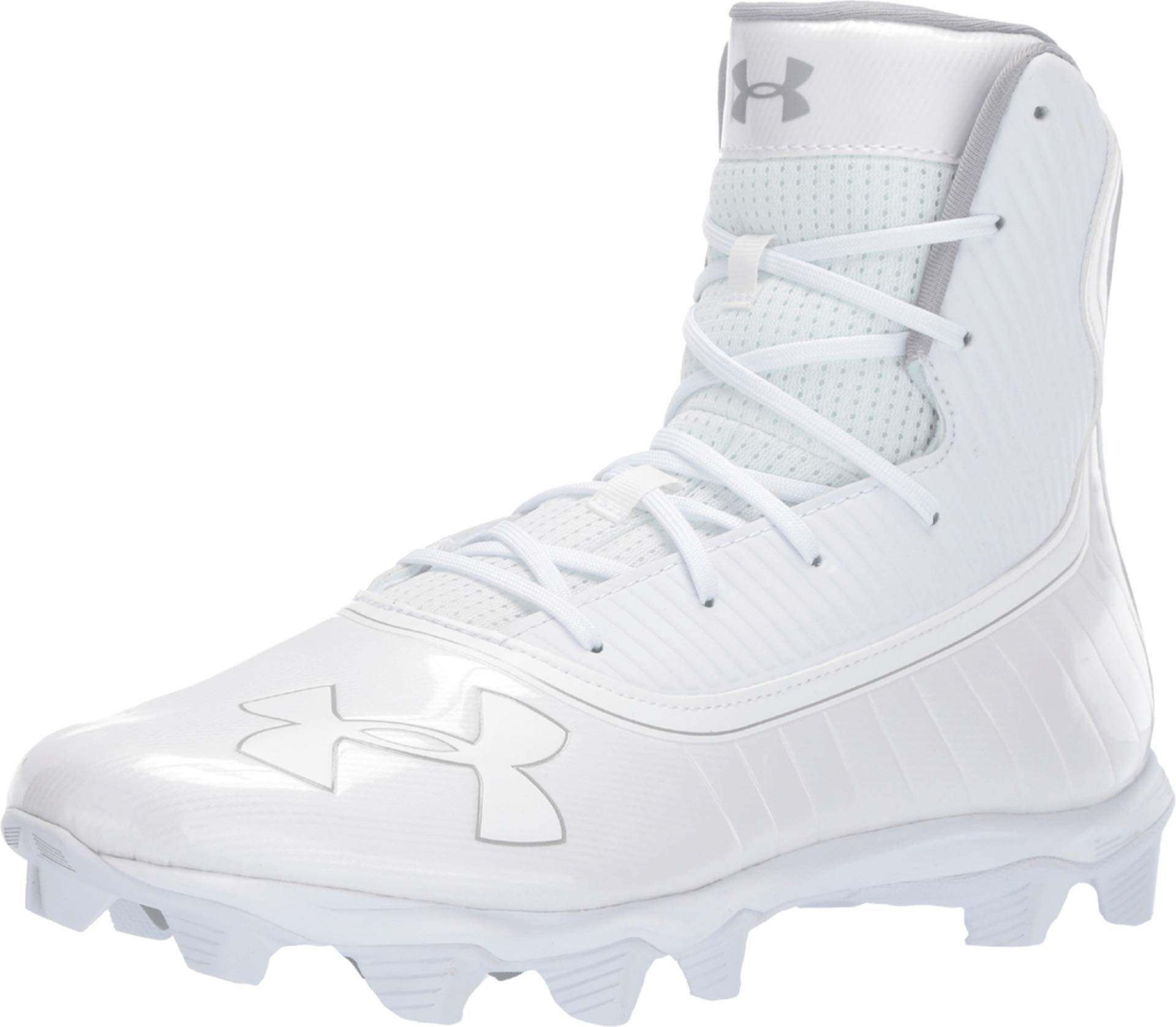Under Armour Men's UA Highlight RM White/Metallic Silver 6.5 D US