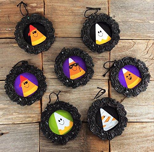 AG Designs Halloween Ornaments - Cute Candy Corn Costumes 8pc Set (Cute Candy Corn Costumes)