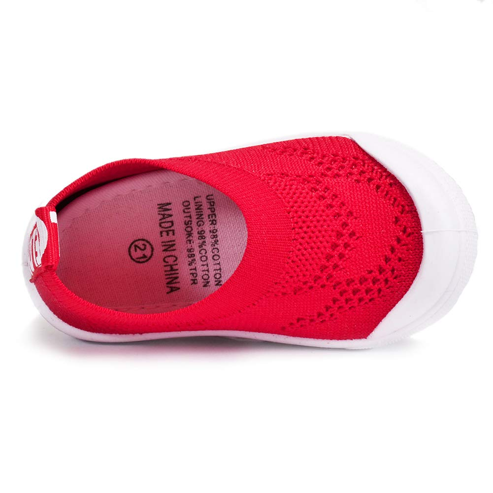 BiBeGoi Toddler Boys Girls Breathable Mesh Sneakers Lightweight Slip On Walking Tennis Shoes Outdoor Knit Air Cushion Little Kid//Baby