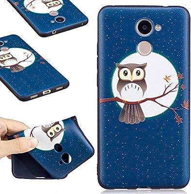 Guran® Carcasa Silicona TPU Protectora Funda Case para Huawei Y7 / Y7 Prime Smartphone Bumper Shock Cover Caso - Noctámbulo