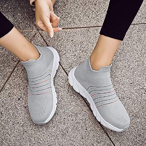 Et Légères Gris Chaussures De Femmes Baskets Mode Marche Douces 1wvPYP7