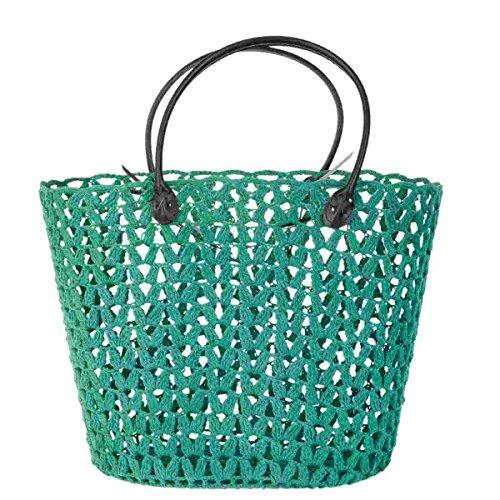 Clayre & Eef CR0147 borsa verde circa 40 x 25 x 30 cm