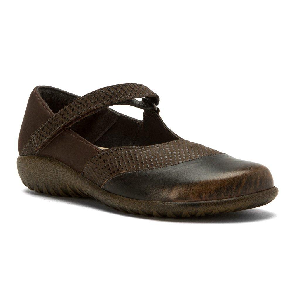 NAOT Women's LUGA Flats Shoes B019SPHTWO 8 B(M) US|Brown Croc, Brown Shimmer, Volcanic Brown